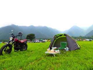 バイクに乗って大自然の中、ツーリング&キャンプを楽しみませんか♪のサムネイル画像